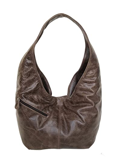 d21f034a6b2f Image Unavailable. Image not available for. Color  Fgalaze Distressed Brown  Leather Hobo Bag ...
