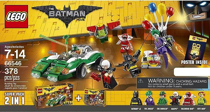 LEGO 66546 The Lego Batman Movie Super Pack 2-in-1 Ridler Joker