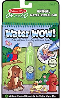 melissa doug water coloring painting book water wow animal on the