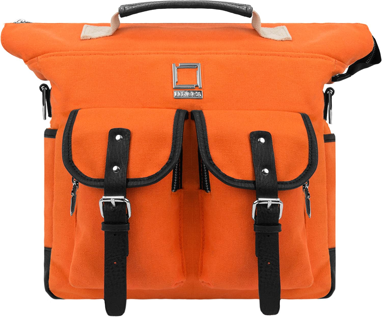 Lencca Mini Phlox Backpack Orange Carry on Bag fits Microsoft Surface Pro 4 Surface 2 Pro Pro 3