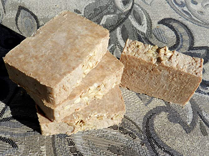 Amazon.com: Honey and Oatmeal 4 Bar Soaps Lard and Lye Traditional Soap Four Bars with Honey and Oatmeal. Nut Palm and Fragrance Free Rustic Cold Process: ...