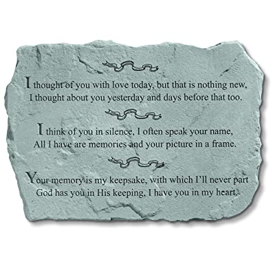 Kay Berry Inc Stepping Stone- I thought of you with love : Outdoor Decorative Stones : Garden & Outdoor