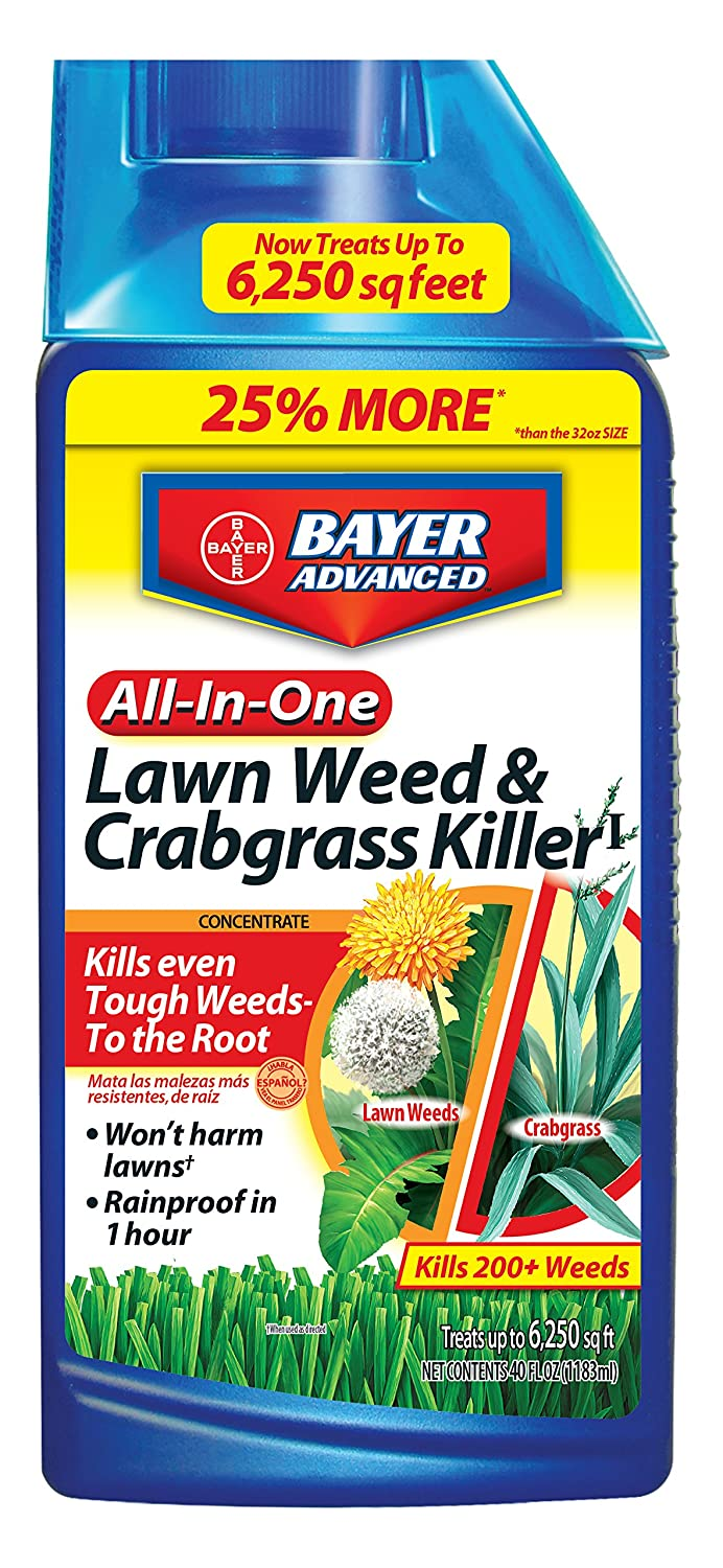 How to get rid of lawn weeds - Amazon Com Bayer Advanced 704140 All In One Lawn Weed And Crabgrass Killer Concentrate 40 Ounce Fertilizers Patio Lawn Garden