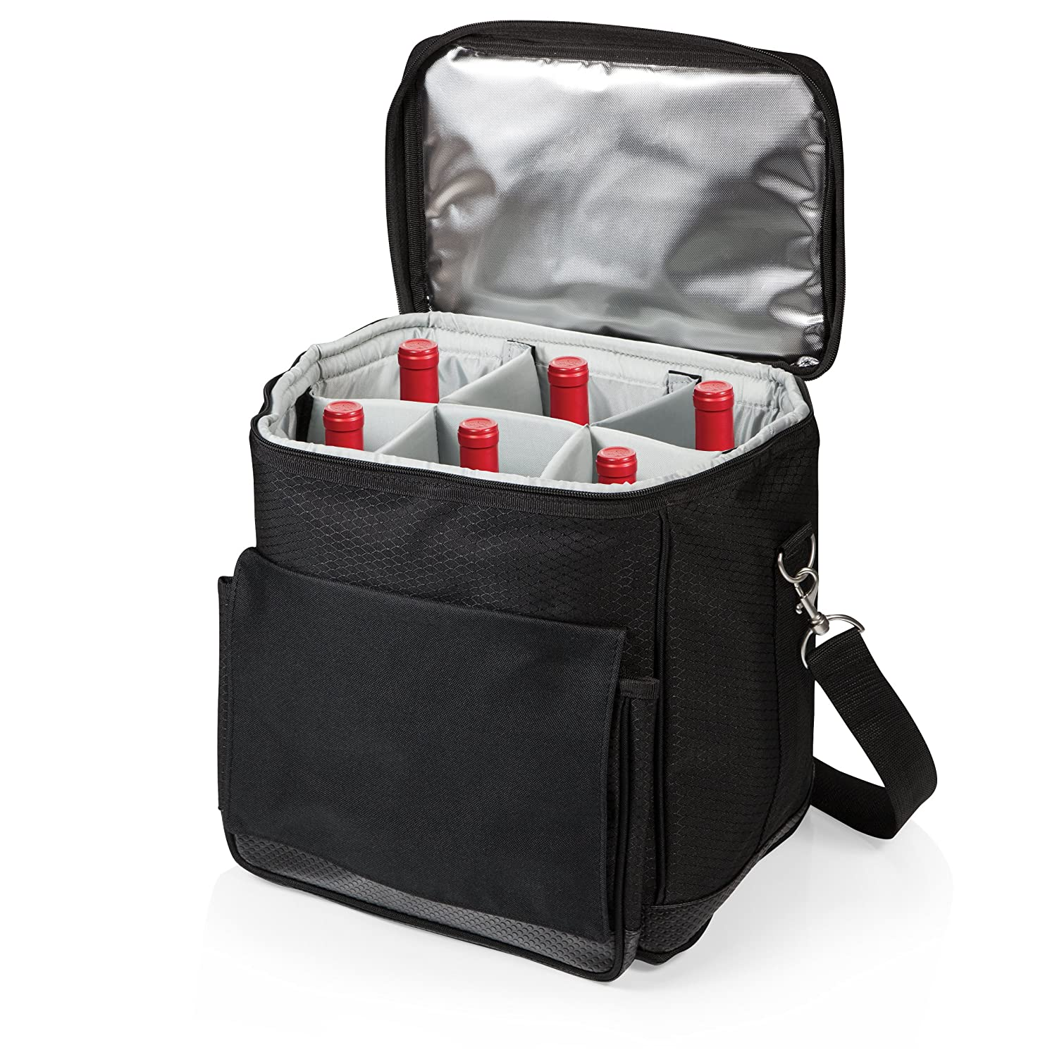 Picnic Time Cellar Six-Bottle Polyester Insulated Wine Carrier