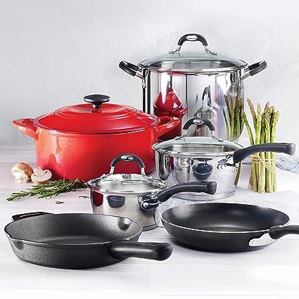 Tramontina 10-Piece Kitchen Essentials Multi-Material Cookware Set