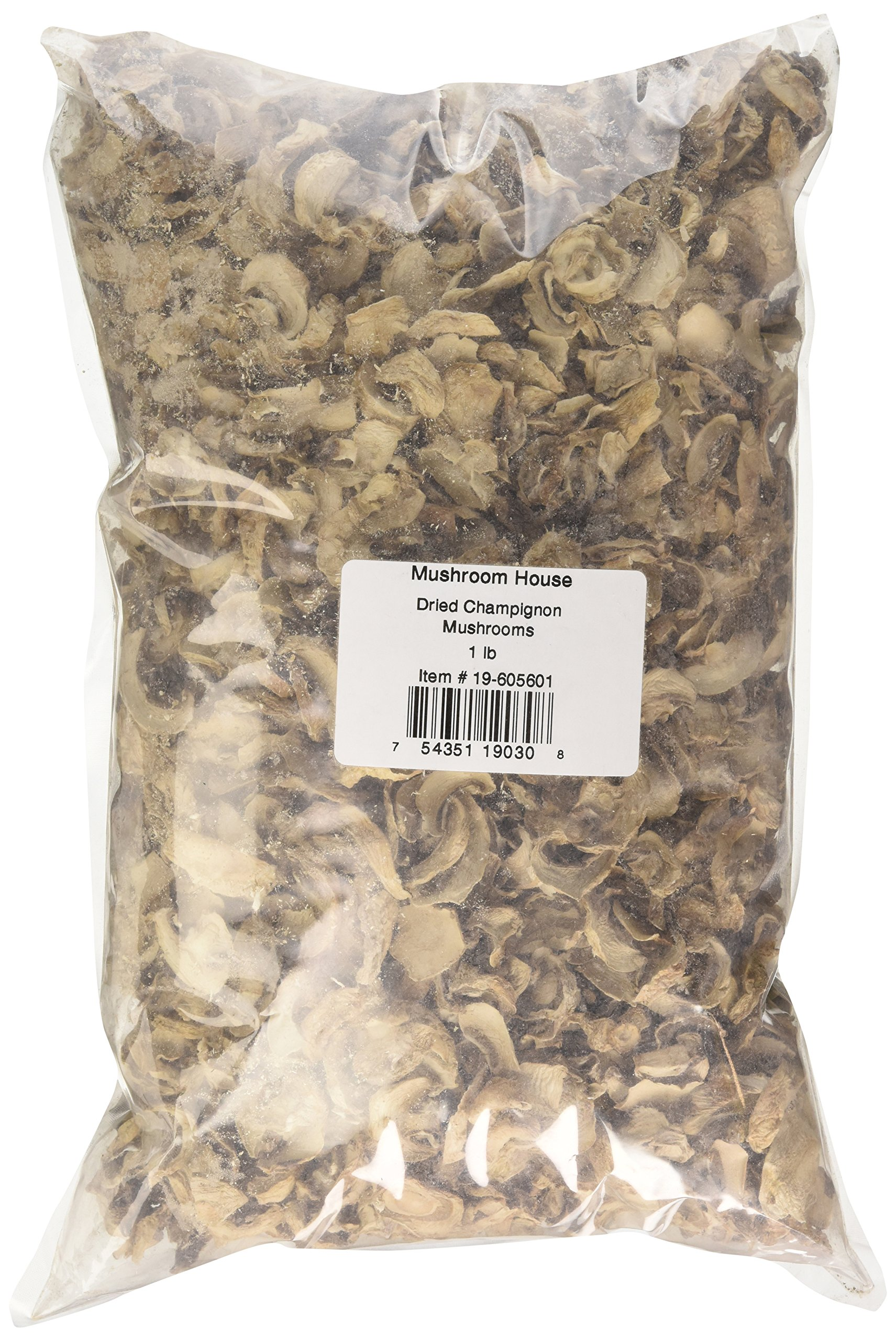 Mushroom House Dried Champignon Mushrooms, 1 Pound by Mushroom House