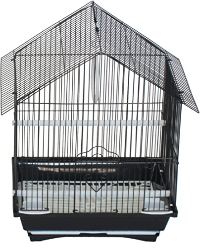 YML Black House Top Style Parakeet Cage