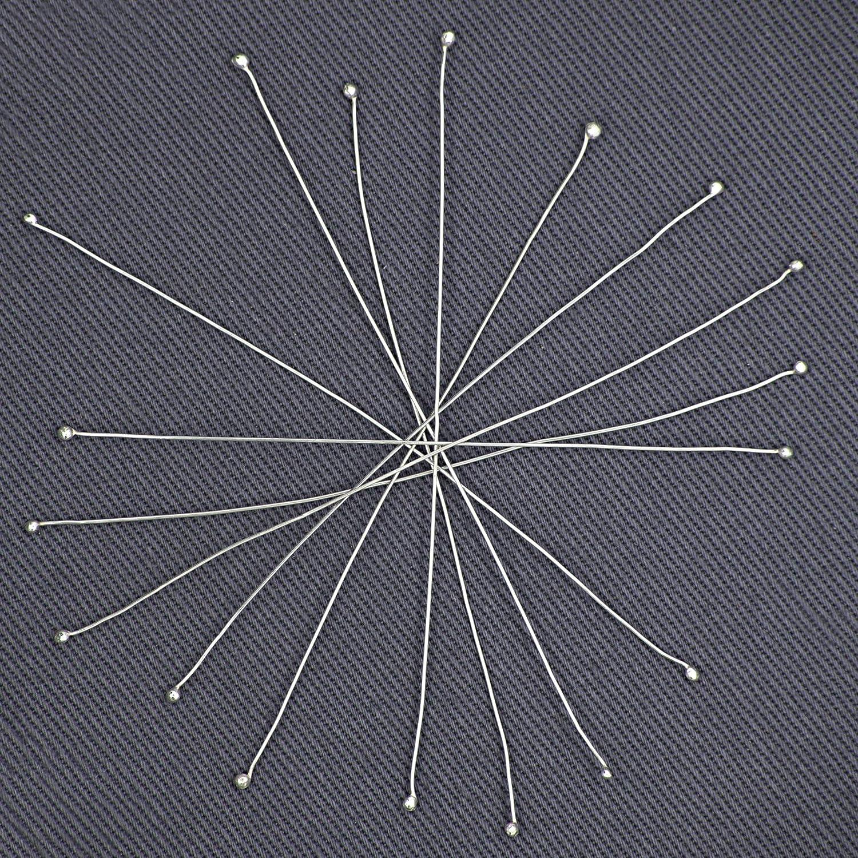 Ideali per Creazione Gioielli Leggeri 20 Pz Fili Connettori Argento Sterling 925 Senza Nickel 60mm lunghezza