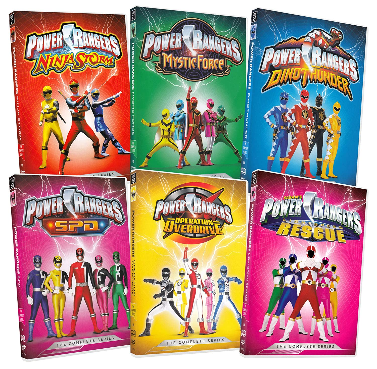 Amazon.com: Power Rangers Sample Pack (Ninja Storm / Mystic ...
