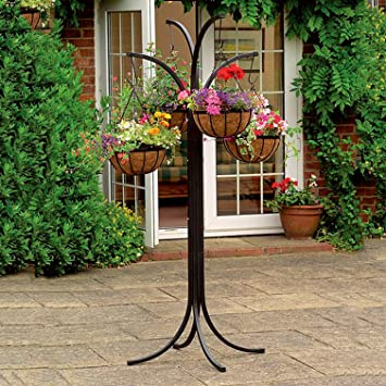 Parkland 4 arm tree cascade garden hanging basket patio plant parkland 4 arm tree cascade garden hanging basket patio plant planter stand workwithnaturefo