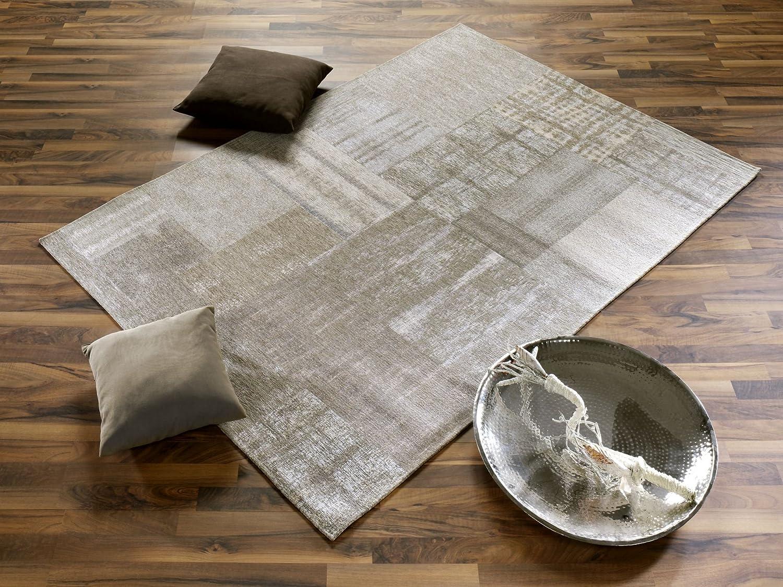 CARDY APOLLIN Vintage Patchwork Designer Teppich in beige, Größe  120x170 cm