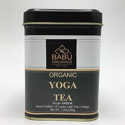 Organic Yoga, té de Babu Organics (15 tazas) organico rico ...