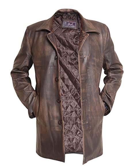 Men's Vintage Christmas Gift Ideas Dean Winchester Supernatural Distressed Brown Real Cowhide Leather Jacket Coat $179.95 AT vintagedancer.com