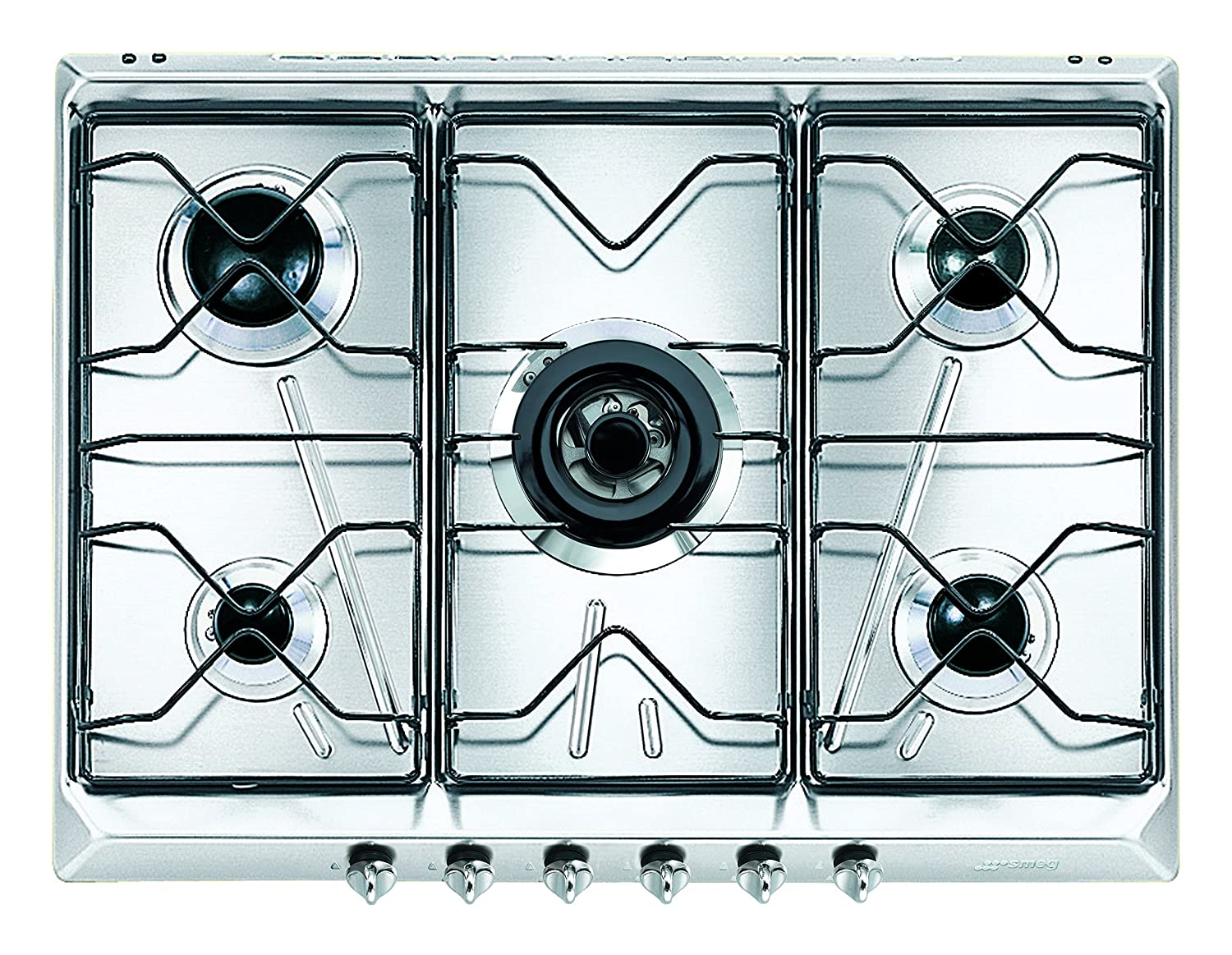 Smeg SRV576-5 Built-in Gas Stainless steel hob - hobs (Built-in ...