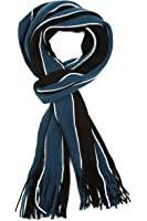 Sakkas Rhyland Striped Color Block Knitted Winter Scarf With Fringe