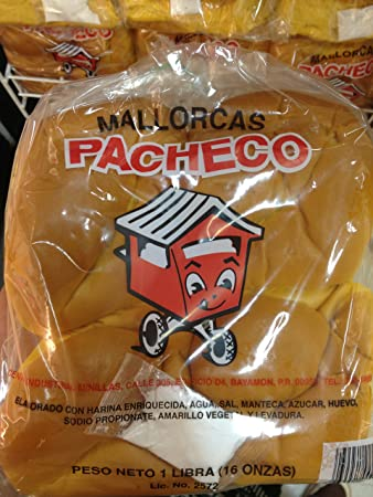 1 Pack of Puerto Rican Sweet Rolls (Mallorcas) Pacheco