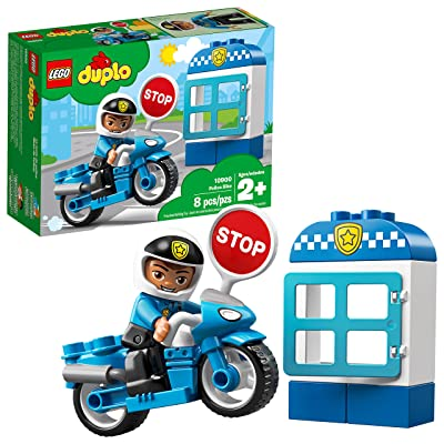 LEGO DUPLO Town Police Bike 10900 Building Blocks (8 Pieces): Toys & Games