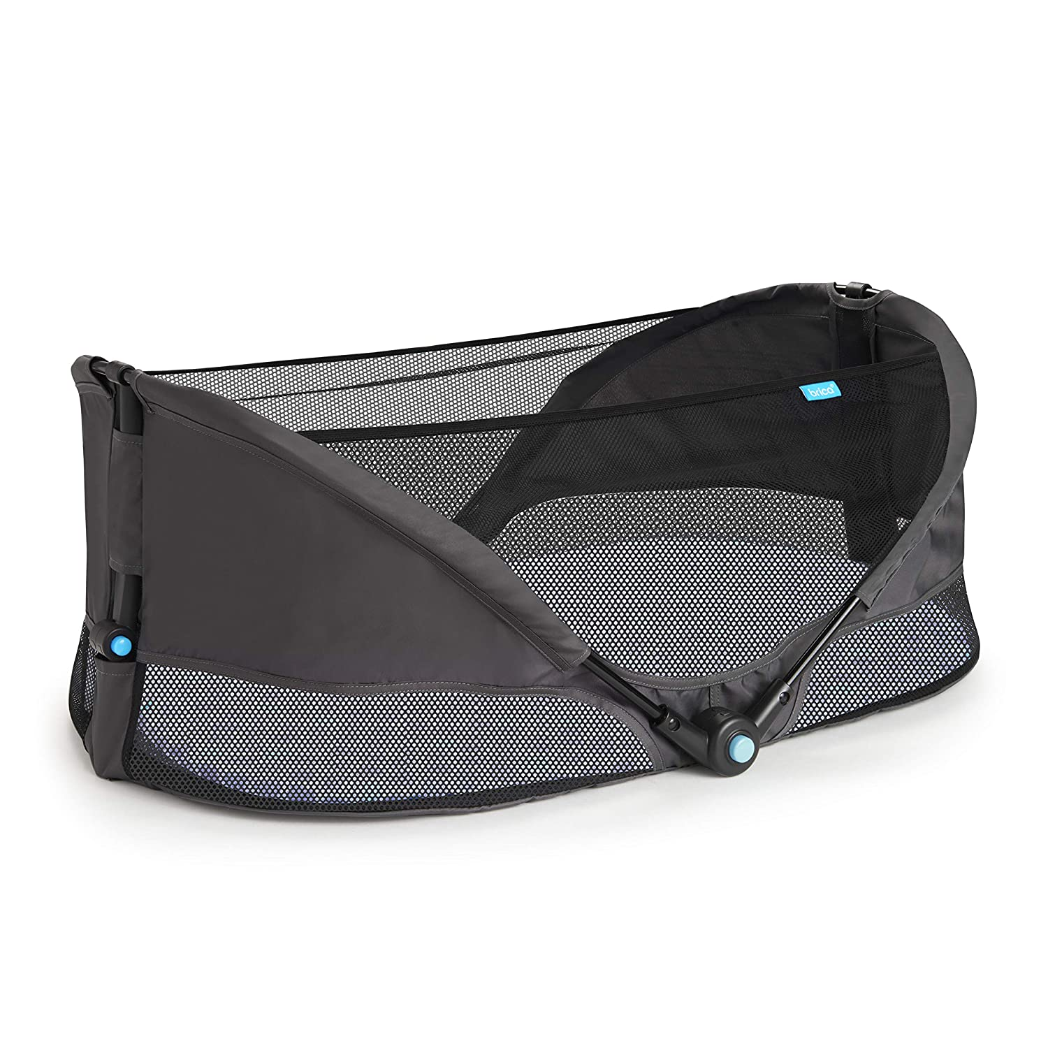 Munchkin Brica Fold N Go Travel Bassinet, Grey