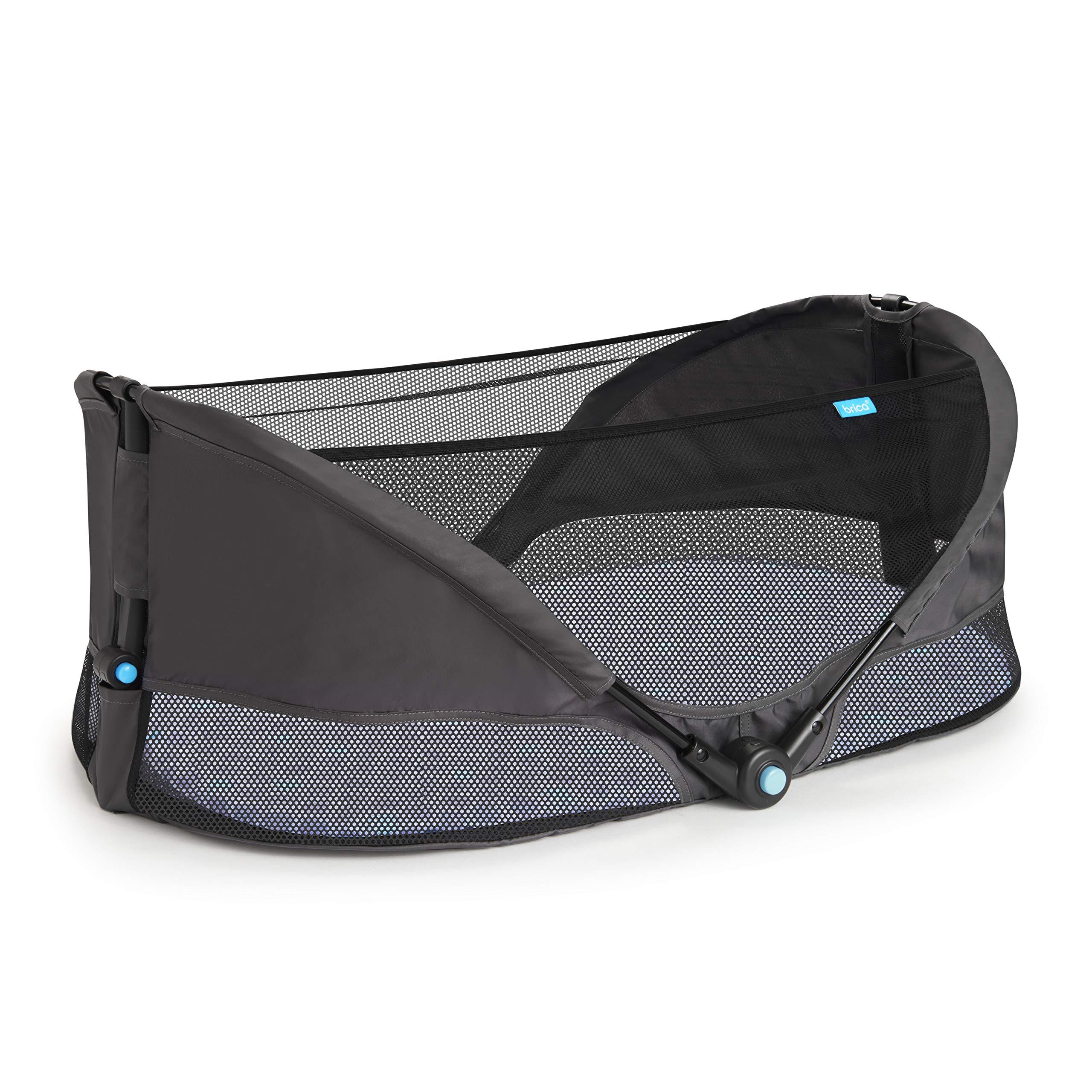 Munchkin Brica Fold N' Go Travel Bassinet, Grey by Munchkin