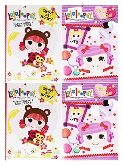 Amazon.com: Set of 4 Lalaloopsy Jumbo Coloring & Activity ...
