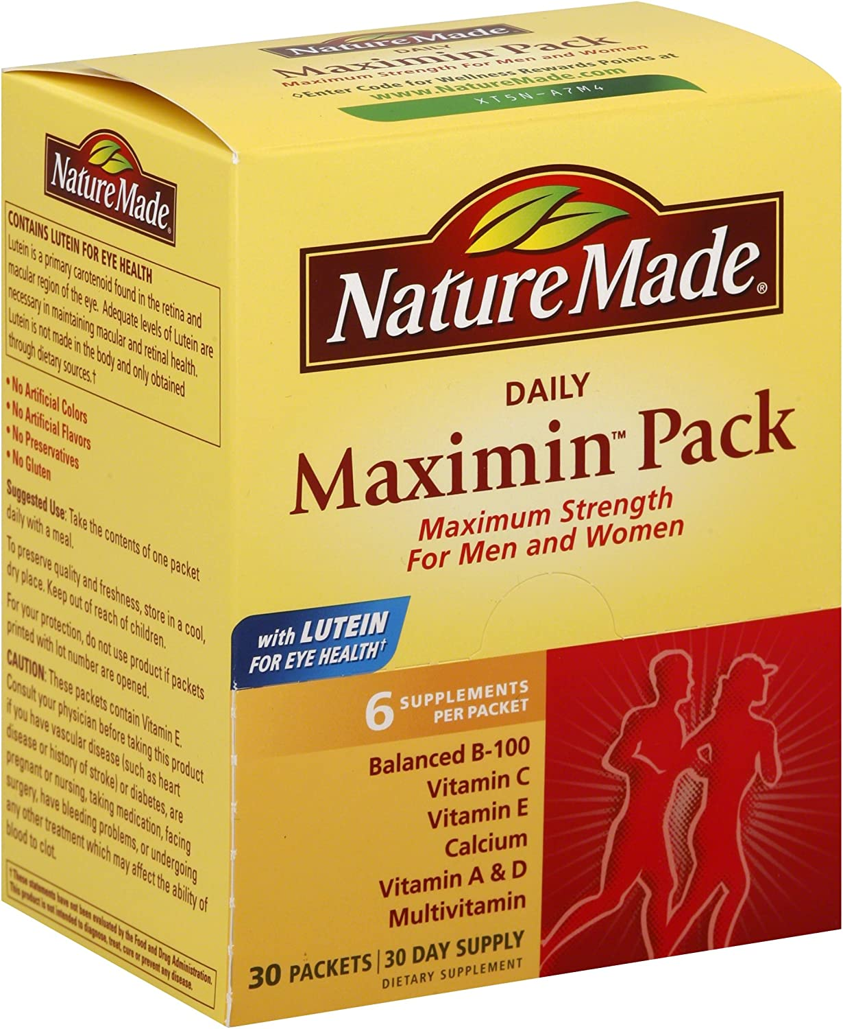 Nature Made Maximin Pack, 30 Packets Pack of 2