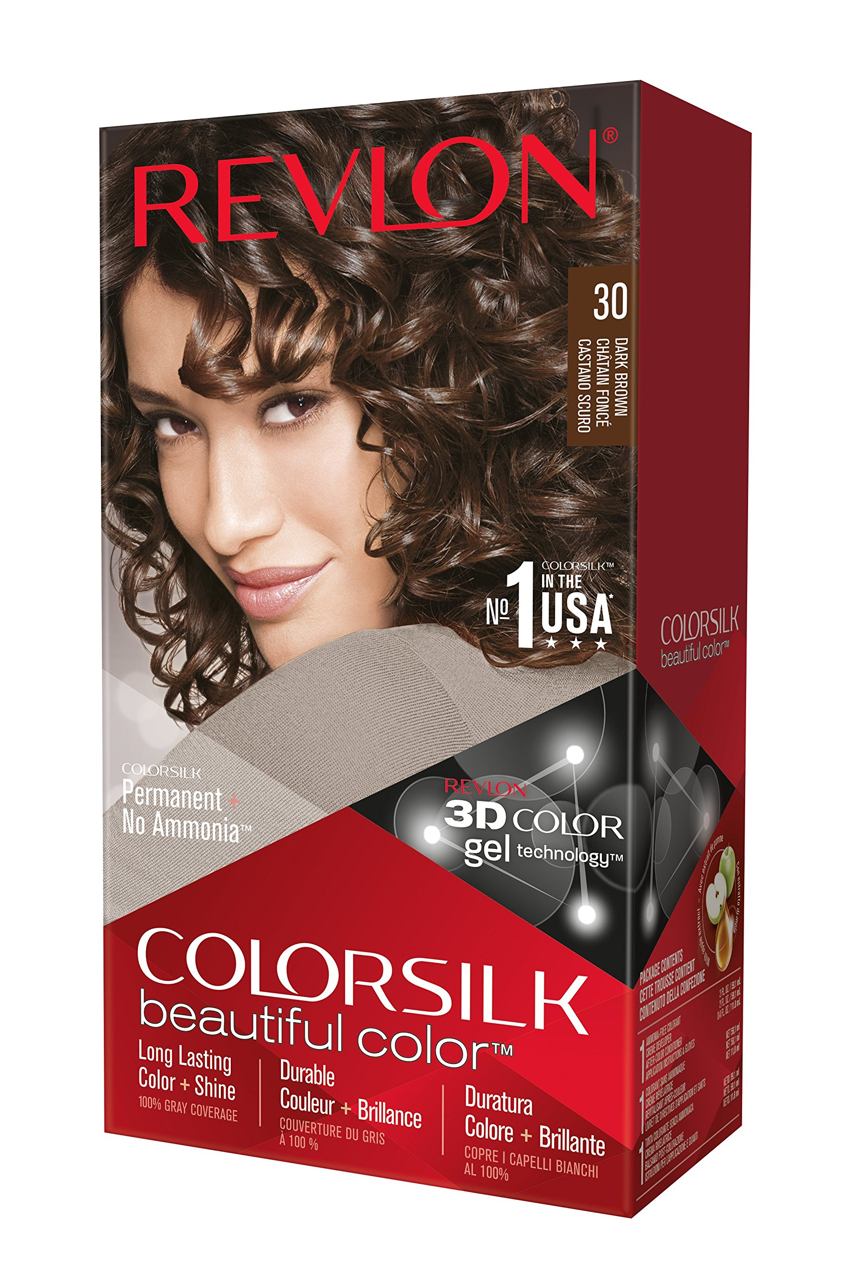 Amazon.com : Revlon Colorsilk Beautiful Color, Brown Black 20 : Chemical Hair Dyes : Beauty