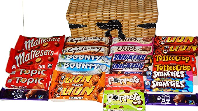 Chocolate hamper gift box 24 bars of delicious cadbury nestle chocolate hamper gift box 24 bars of delicious cadbury nestle chocolate loveliness negle Image collections