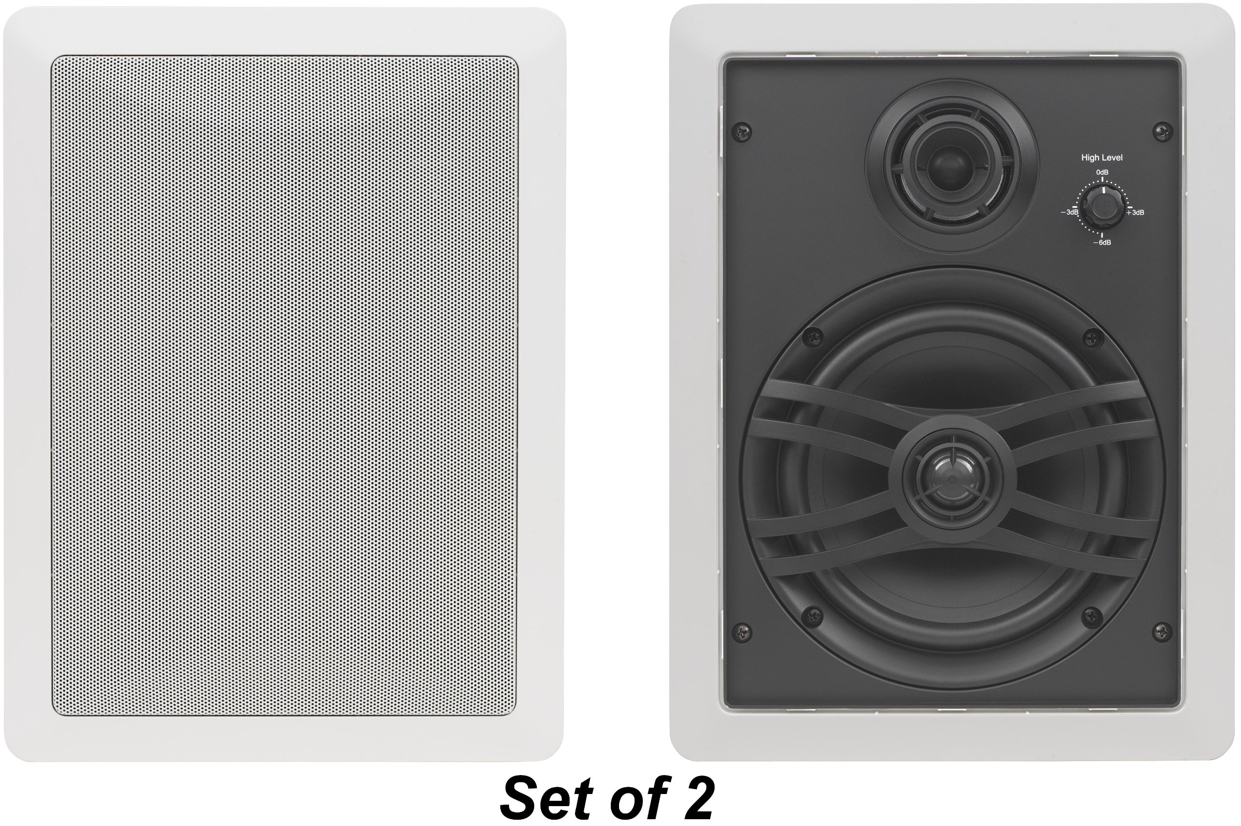 Yamaha Natural Sound Custom Easy-to-install In-Wall Flush Mount 3-Way 150 watts Speaker Set (1 Pair of 2 Speakers) with a 1'' Swivel Titanium Dome Tweeter, 1-5/8'' Swivel Aluminum Dome Midrange Driver & 6.5'' Kevlar Cone Woofer for A Regular Size Room or 2 S by YAMAHA