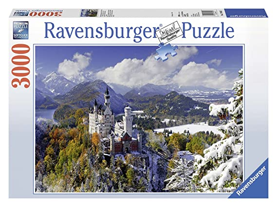 Ravensburger Puzzles Neuschwanstein Castle in Winter, Multi Color (3000 Pieces) Jigsaw Puzzles at amazon