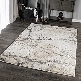 """product image for Orian Rugs Super Shag Collection 392616 Marquina Area Rug, 5'3"""" x 7'6"""", Ivory"""