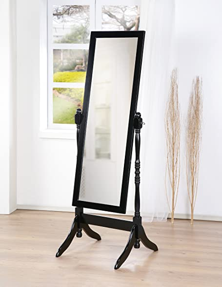 Amazon.com: Wooden Cheval Bedroom Floor Mirror with Twisted Post in ...