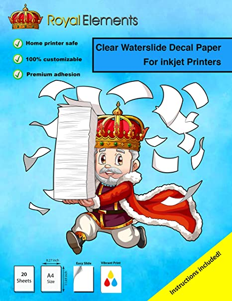 Amazon.com: Royal Elements - Papel adhesivo para impresora ...