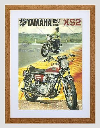 971 Yamaha 650 Street Xs2 Lámina Enmarcada