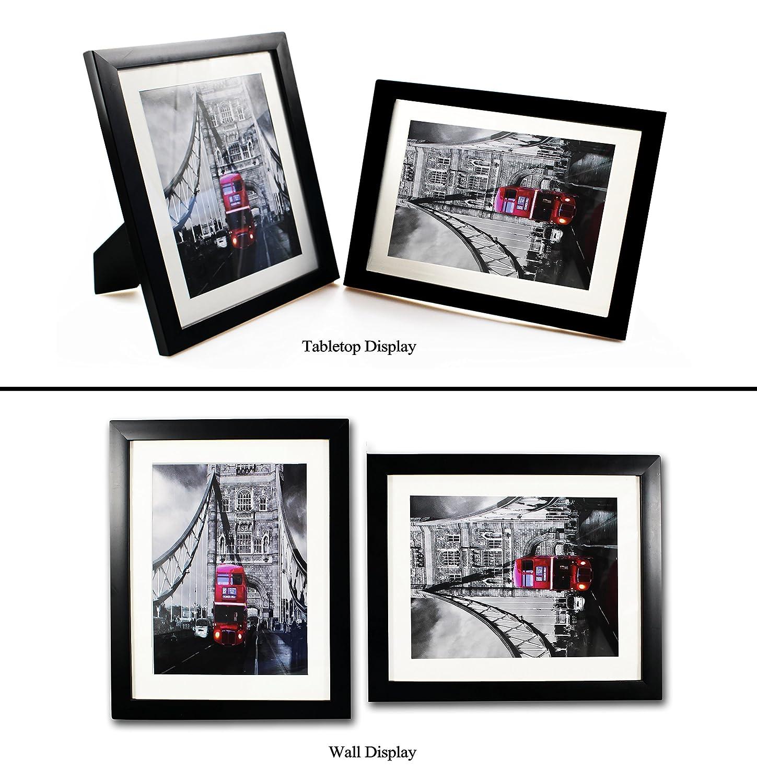 8 x 10 Zoll Schwarz Bilderrahmen 3er-Pack, Plexiglasabdeckung, für ...
