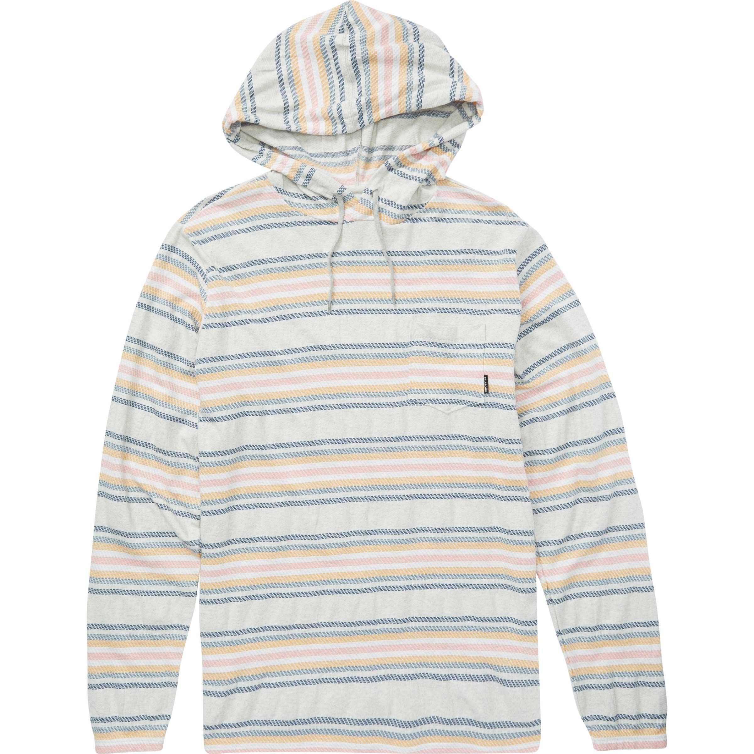 Billabong Men's Flecker Baja Pullover Hoody, Light Grey Heather, M