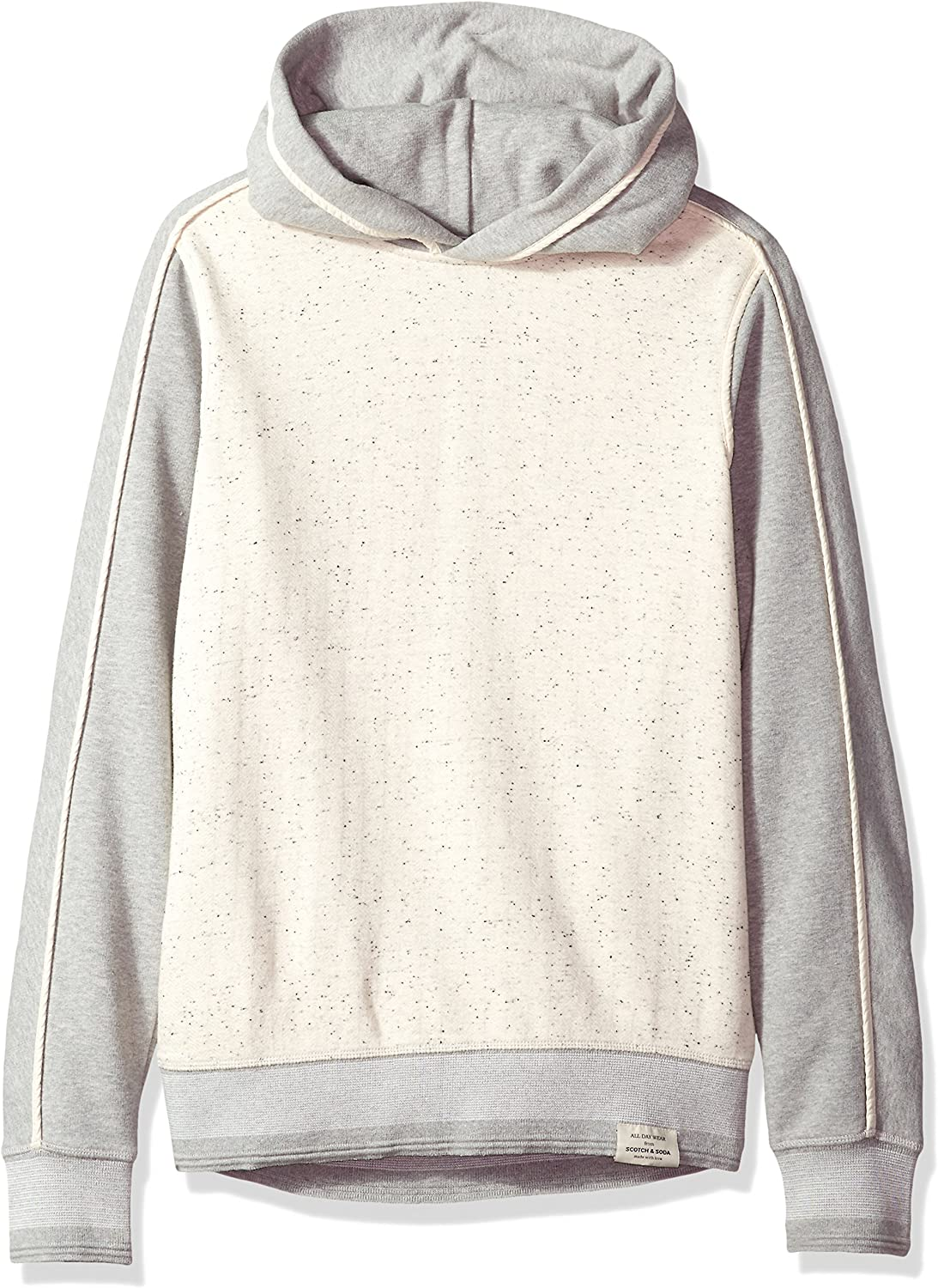 Scotch /& Soda Mens Hooded Sweat in Mix /& Match Quality with Binding Details
