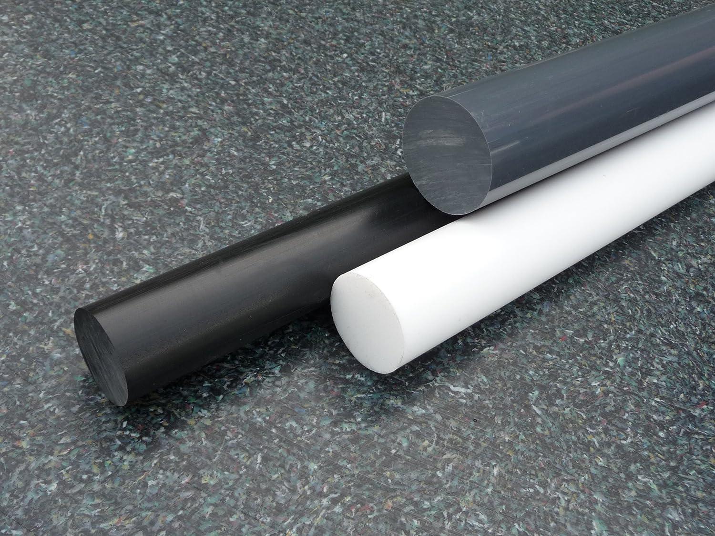 L: 25mm POM Rundstab schwarz /Ø 110mm 2,5cm Kunststoffstab auf Zuschnitt