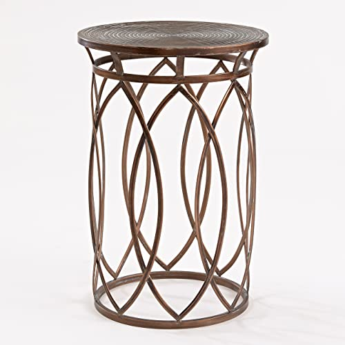 FirsTime Co. Marquise Side Accent Table, 22.5 H x 15 W x 15 D, Antique Bronze