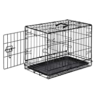 AmazonBasics Single Door Folding Metal Cage Crate For Dog or Puppy - 22 x 13 x 16 Inches