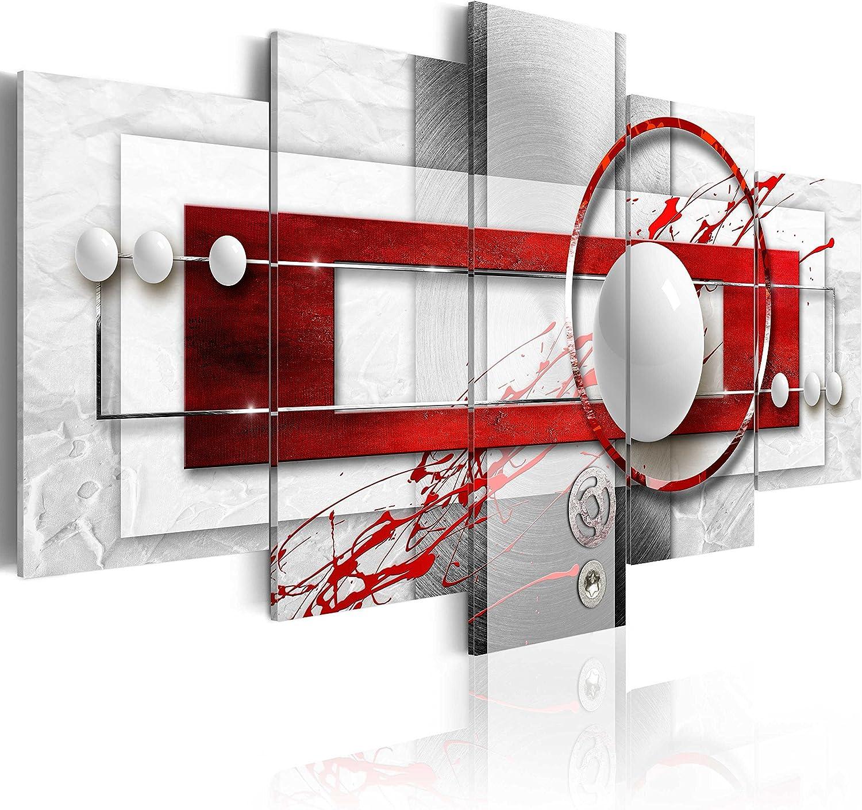 murando - Cuadro 200x100 cm - Abstracto - impresión de 5 Piezas - Material Tejido no Tejido - impresión artística - Imagen gráfica - Decoracion de Pared - Arte a-A-0140-b-n