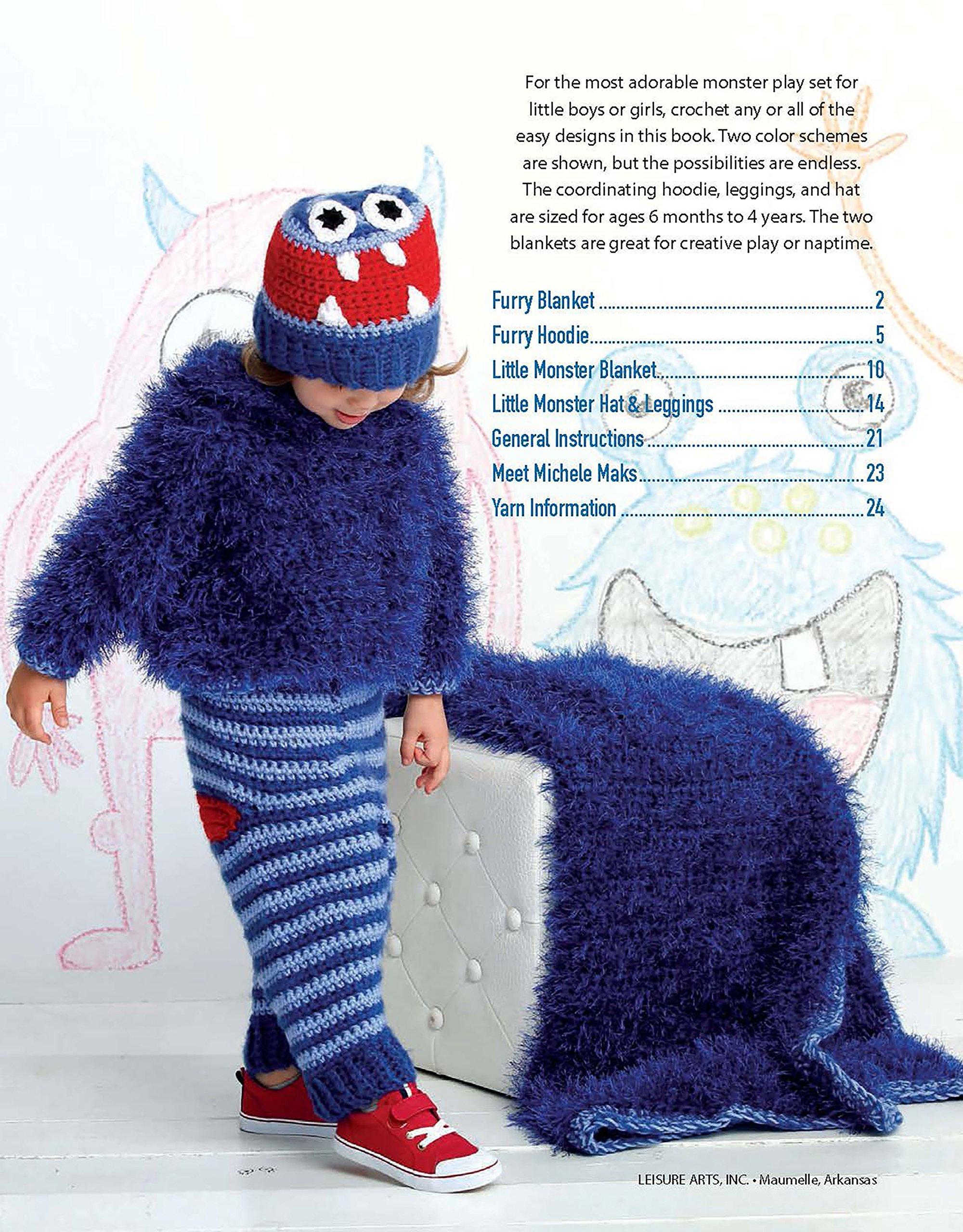 Monster Playsets Crochet Leisure Arts 7227 Michele Maks
