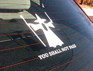 You Shall Not Pass Gandalf Inspired - Bumper Sticker / Window Decal