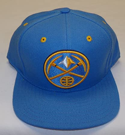 purchase cheap b48fa 3afd6 Image Unavailable. Image not available for. Color  adidas Denver Nuggets  Snapback Hat by Osfa NF62Z. Roll over image to zoom in