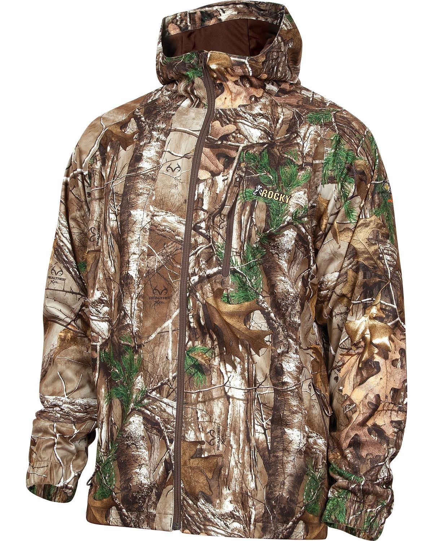 Rocky Men's Silent Hunter Rain Jacket, Camouflage, X-Large