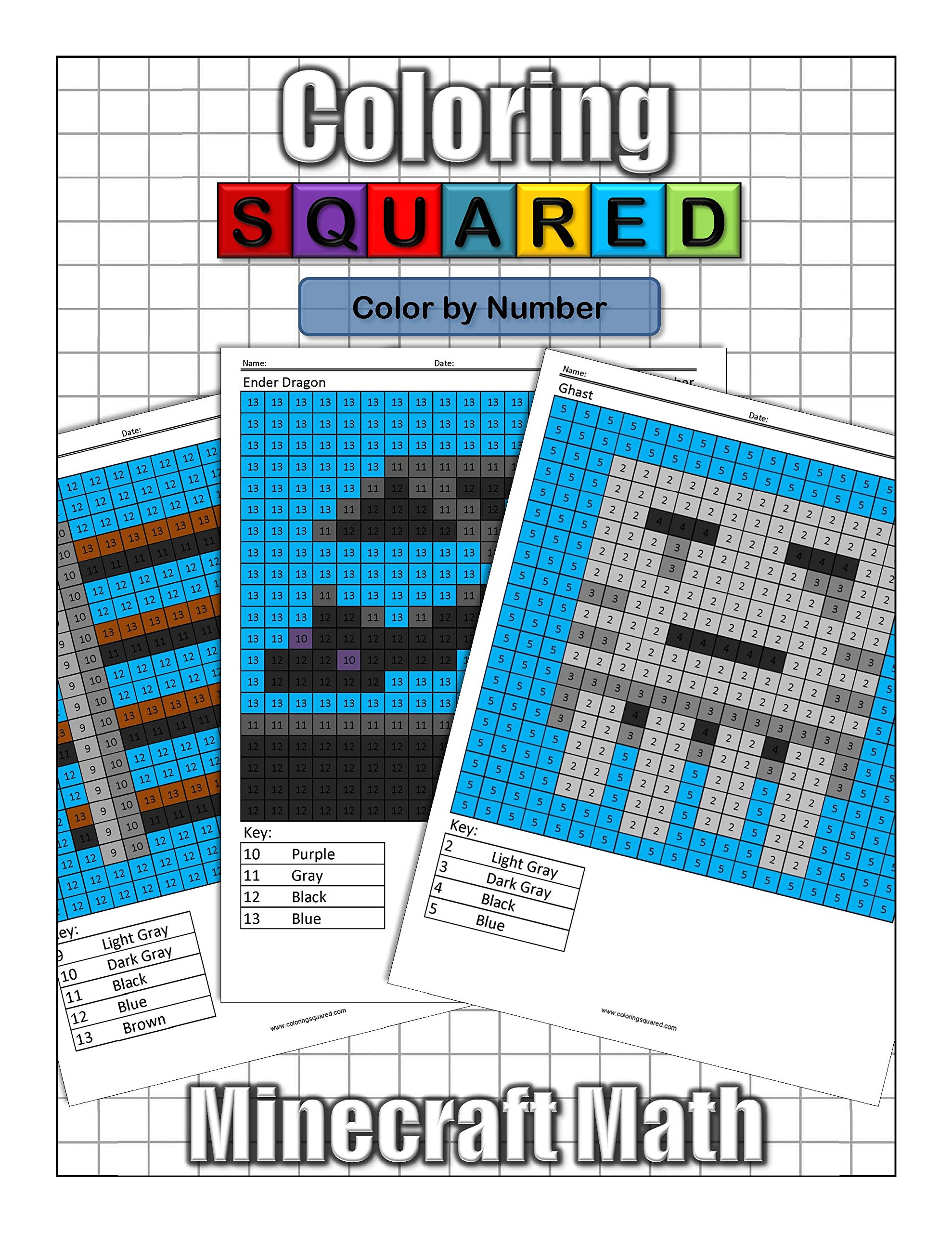 Coloring Squareds Minecraft Color By Number Cameron Krantzman 9781939668172 Amazon Books
