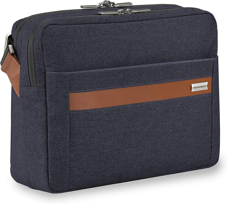 Briggs & Riley Kinzie Street-Micro Messenger Laptop Bag, Navy, One Size
