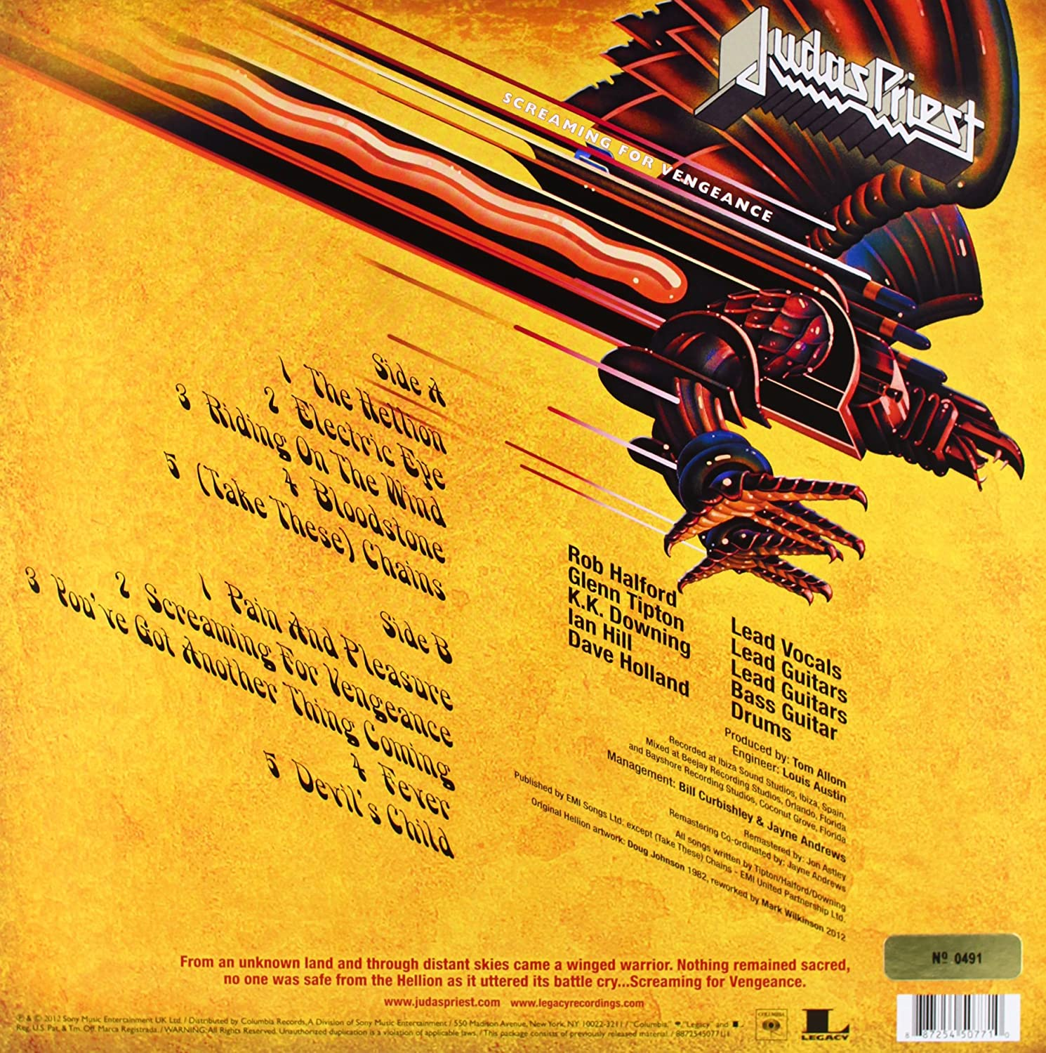 Judas Priest Screaming For Vengeance Special 30th Anniversary