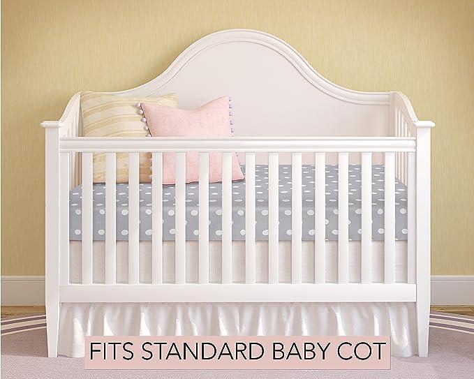 Milliard Colchón de cuna espuma hipoalergénica cuna cama colchón/Junior con cubierta impermeable 120cm x 60cm: Amazon.es: Bebé