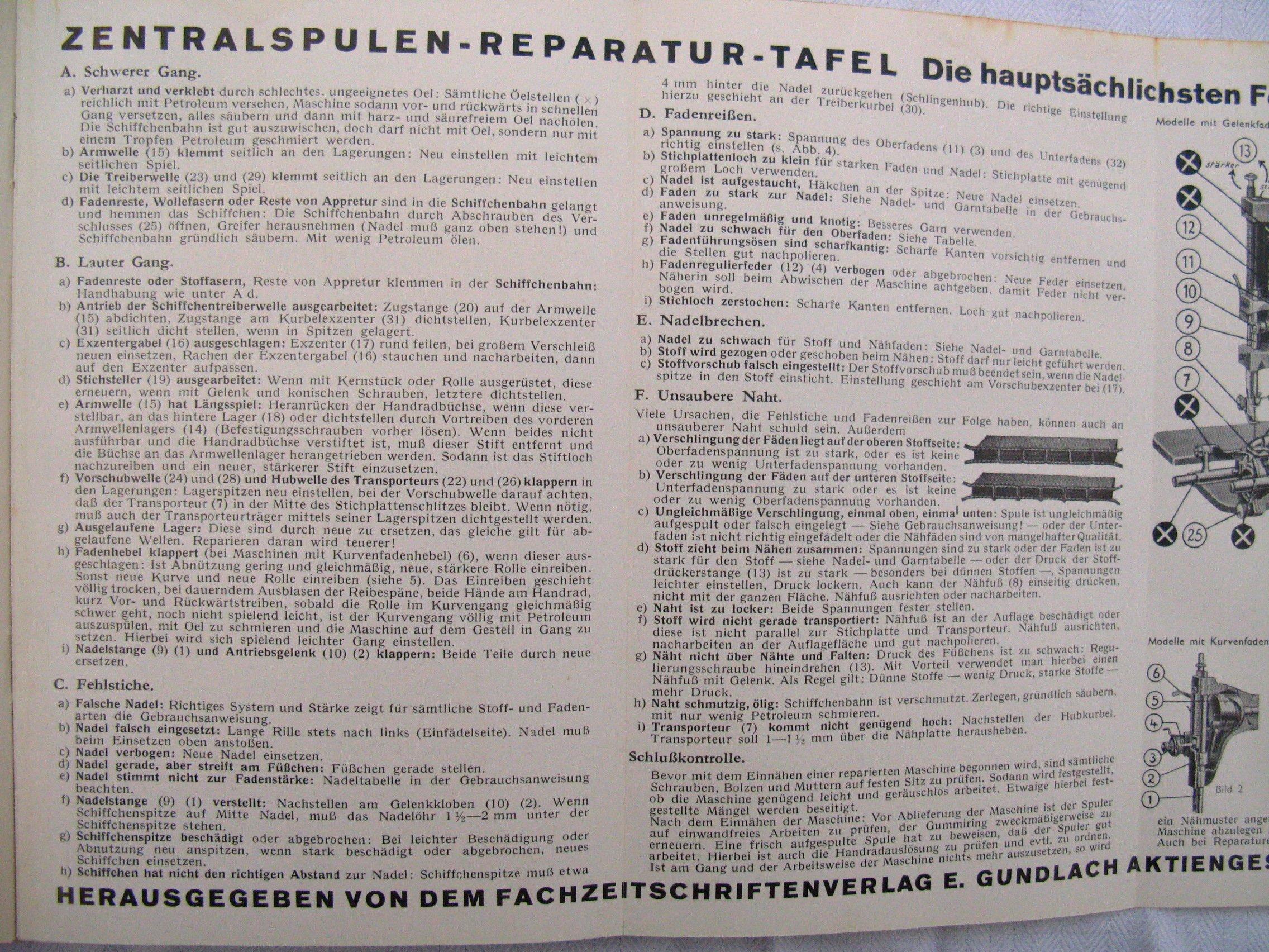 Der praktische Nähmaschinen-Reparateur - Leitfaden für Reparateure ...