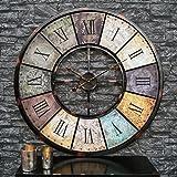 Große Wohnzimmer Wanduhr Xxl Metall Ø 60cm Riesen Vintage Uhr Für ... Grose Wohnzimmer Uhren
